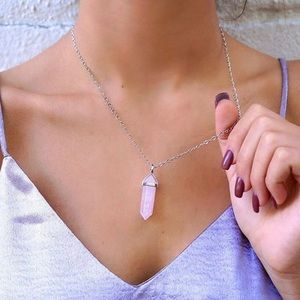 New Pink Rose Quartz Gemstone Necklace